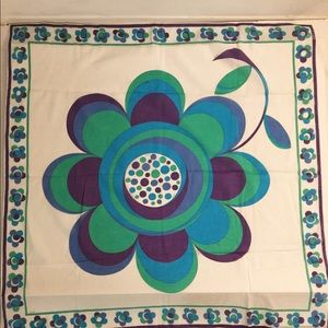 Emilio Pucci flower print cotton scarf